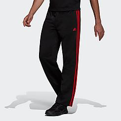 Men's adidas Warm-Up Tricot Open-Hem 3-Stripe Training Pants