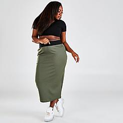 Women's Reebok Cardi B Rib Skirt (Plus Size)