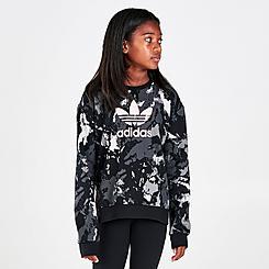 Girls' adidas Originals Tie-Dye Trefoil Crewneck Sweatshirt