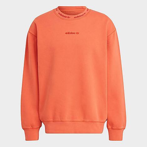 Adidas Originals Cottons ADIDAS MEN'S ORIGINALS DYED CREWNECK SWEATSHIRT