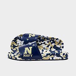 Hype Co. Navy Midshipmen College Slydr Slide Sandals
