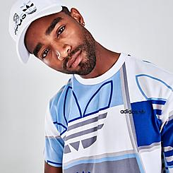 Men's adidas Originals Logo Play Allover Print Graphic T-Shirt