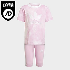 Girls' Toddler and Little Kids' adidas Originals Cloud Wash T-Shirt and Shorts Set