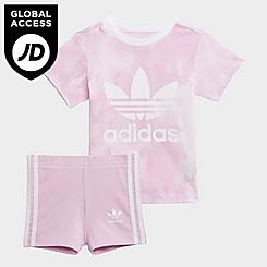 Girls' Toddler adidas Originals Cloud Wash T-Shirt and Bike Shorts Set