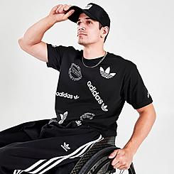 Men's adidas Originals New Multi-Logo Graphic T-Shirt