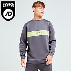 Boys' Illusive London Blaze Fleece Crewneck Sweatshirt