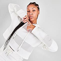 Women's Juicy Couture Mesh Panel Pullover Hoodie