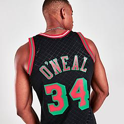 Men's Mitchell & Ness Shaquille O'Neal Los Angeles Lakers Neapolitan Swingman 1996-97 Jersey