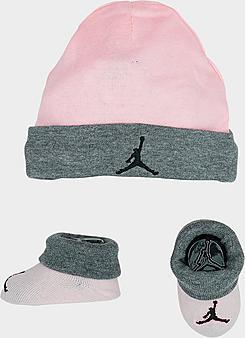 Girls' Infant Jordan Hat and Bootie Set