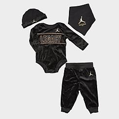 Boys' Infant Jordan 4-Piece Bodysuit and Jogger Pants Asahd Khaled Box Set