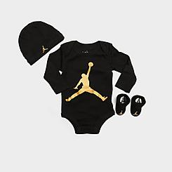 Infant Jordan Jumpman 3-Piece Hat and Bootie Box Set