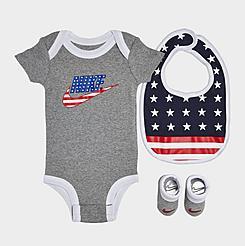 Infant Nike 3-Piece Bib and Booties Americana Box Set