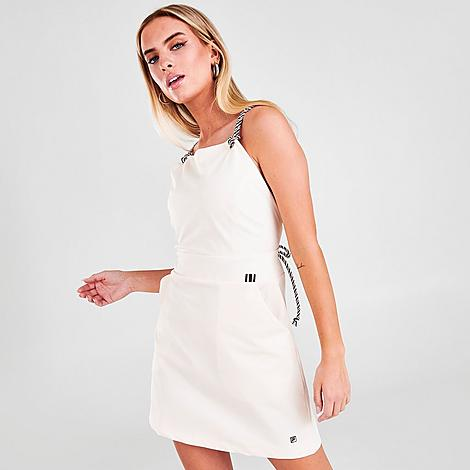 Fila Women's Pia Dress in White/Whisper White Size Small Cotton Size & FitSlim fit for a flattering look and feel Product FeaturesCotton blend fabric is lightweight and breathable Strappy silhouette with rope-like straps F-Box patch embroidery logo 95% cotton, 5% elastane Machine wash The Fila Pia Dress is imported. Meet your new favorite summer dress! The Fila Pia Dress has a strappy silhouette and soft fabric so you look and feel cool from barbecues to dinner dates. Size: Small. Color: White. Gender: female. Age Group: adult. Fila Women's Pia Dress in White/Whisper White Size Small Cotton