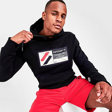 Superdry Men's Sport Jock Tag Hoodie in Black/Black Size Small 100% Cotton Size & Fit Standard fit is athletic and relaxed Product Features Soft, warm cotton fabric for cozy comfort Drawstring-adjustable hood for coverage and protection Ribbed side panels, cuffs and hem for a personalized fit Rugged Superdry athletic tag for signature branding and sporty style Kangaroo pouch pocket for warming your hands and stashing small essentials 100% cotton Machine wash The Superdry Sport Jock Tag Hoodie is imported. Hit the gym or the streets in the Men's Superdry Sport Jock Tag Hoodie for a rugged look and cozy wear. Rock this with joggers and trainers for a versatile and sporty look that doesn't go wrong. Color: Black. Gender: male. Age Group: adult. Superdry Men's Sport Jock Tag Hoodie in Black/Black Size Small 100% Cotton