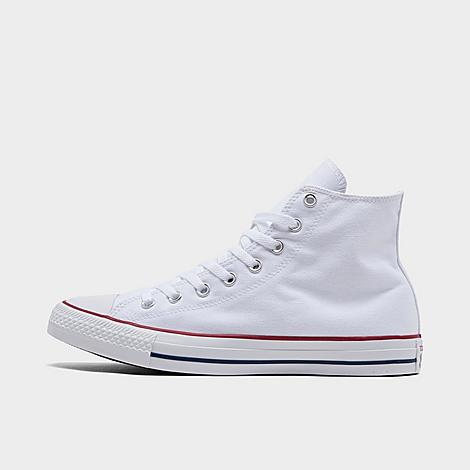 Converse Chuck Taylor All Star High Top Casual Shoes in White/Optical White Size 9.0 Canvas Sizing Information UNISEX SIZING: Unisex shoes are equal to men's shoe sizing Women, select 2 sizes smaller than your typical shoe size Ex. If you wear a women's size 10, you would select an 8 in this sneaker Men, select your typical shoe size Product Features Clean, classic and as All-American as apple pie, the Converse Chuck Taylor Hi has something for everyone. High top silhouette for style Durable canvas upper Classic Chuck Taylor All Star styling Rubber sole The Converse Chuck Taylor High Top is imported. Tomboys, fashionistas, sneakerheads and everyone in between can take the iconic Chucks look and adapt it to their style. Low-key canvas meets a vulcanized rubber sole, with All Star branding rounding out this easygoing, wear-everywhere sneaker. Better grab a couple pairs. Whether you dress 'em up or dress 'em down, you'll want to wear them every. single. day. Size: 9.0. Color: White. Gender: male. Age Group: adult. Converse Chuck Taylor All Star High Top Casual Shoes in White/Optical White Size 9.0 Canvas
