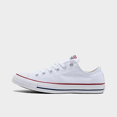 Converse Chuck Taylor All Star Low Top Casual Shoes in White/Optical White Size 7.5 Canvas Sizing Information UNISEX SIZING: Unisex shoes are equal to men's shoe sizing Women, select 2 sizes smaller than your typical shoe size Ex. If you wear a women's size 10, you would select an 8 in this sneaker Men and Big Kids, select your typical shoe size Product Features Clean, classic and as All-American as apple pie, the Converse Chuck Taylor Low has something for everyone. Low top silhouette for style Durable canvas upper Classic Chuck Taylor All Star styling Rubber sole The Converse Chuck Taylor Low Top is imported. Tomboys, fashionistas, sneakerheads and everyone in between can take the iconic Chucks look and adapt it to their style. Low-key canvas meets a vulcanized rubber sole, with All Star branding rounding out this easygoing, wear-everywhere sneaker. Better grab a couple pairs. Whether you dress 'em up or dress 'em down, you'll want to wear them every. single. day. Size: 7.5. Color: White. Gender: male. Age Group: adult. Converse Chuck Taylor All Star Low Top Casual Shoes in White/Optical White Size 7.5 Canvas