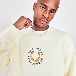Men's Fred Perry Embroidered Crewneck Sweatshirt