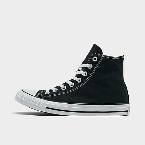 Converse Chuck Taylor All Star High Top Casual Shoes in Black/Black Size 11.0 Canvas Sizing Information UNISEX SIZING: Unisex shoes are equal to men's shoe sizing Women, select 2 sizes smaller than your typical shoe size Ex. If you wear a women's size 10, you would select an 8 in this sneaker Men, select your typical shoe size Product Features Clean, classic and as All-American as apple pie, the Converse Chuck Taylor Hi has something for everyone. High top silhouette for style Durable canvas upper Classic Chuck Taylor All Star styling Rubber sole The Converse Chuck Taylor High Top is imported. Tomboys, fashionistas, sneakerheads and everyone in between can take the iconic Chucks look and adapt it to their style. Low-key canvas meets a vulcanized rubber sole, with All Star branding rounding out this easygoing, wear-everywhere sneaker. Better grab a couple pairs. Whether you dress 'em up or dress 'em down, you'll want to wear them every. single. day. Size: 11.0. Color: Black. Gender: male. Age Group: adult. Converse Chuck Taylor All Star High Top Casual Shoes in Black/Black Size 11.0 Canvas