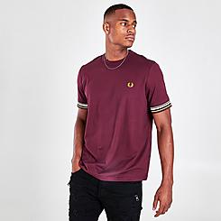 Men's Fred Perry Striped Cuff T-Shirt