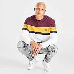 Men's Fred Perry Colorblock Crewneck Sweatshirt