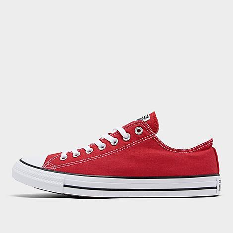 Converse Chuck Taylor All Star Low Top Casual Shoes in Red/Red Size 12.0 Canvas Sizing Information UNISEX SIZING: Unisex shoes are equal to men's shoe sizing Women, select 2 sizes smaller than your typical shoe size Ex. If you wear a women's size 10, you would select an 8 in this sneaker Men and Big Kids, select your typical shoe size Product Features Clean, classic and as All-American as apple pie, the Converse Chuck Taylor Low has something for everyone. Low top silhouette for style Durable canvas upper Classic Chuck Taylor All Star styling Rubber sole The Converse Chuck Taylor Low Top is imported. Tomboys, fashionistas, sneakerheads and everyone in between can take the iconic Chucks look and adapt it to their style. Low-key canvas meets a vulcanized rubber sole, with All Star branding rounding out this easygoing, wear-everywhere sneaker. Better grab a couple pairs. Whether you dress 'em up or dress 'em down, you'll want to wear them every. single. day. Size: 12.0. Color: Red. Gender: male. Age Group: adult. Converse Chuck Taylor All Star Low Top Casual Shoes in Red/Red Size 12.0 Canvas