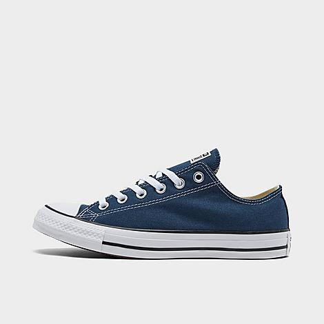 Converse Chuck Taylor All Star Low Top Casual Shoes in Blue/Navy Size 9.5 Canvas Sizing Information UNISEX SIZING: Unisex shoes are equal to men's shoe sizing Women, select 2 sizes smaller than your typical shoe size Ex. If you wear a women's size 10, you would select an 8 in this sneaker Men and Big Kids, select your typical shoe size Product Features Clean, classic and as All-American as apple pie, the Converse Chuck Taylor Low has something for everyone. Low top silhouette for style Durable canvas upper Classic Chuck Taylor All Star styling Rubber sole The Converse Chuck Taylor Low Top is imported. Tomboys, fashionistas, sneakerheads and everyone in between can take the iconic Chucks look and adapt it to their style. Low-key canvas meets a vulcanized rubber sole, with All Star branding rounding out this easygoing, wear-everywhere sneaker. Better grab a couple pairs. Whether you dress 'em up or dress 'em down, you'll want to wear them every. single. day. Size: 9.5. Color: Blue. Gender: male. Age Group: adult. Converse Chuck Taylor All Star Low Top Casual Shoes in Blue/Navy Size 9.5 Canvas