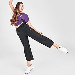 Women's Champion Super Fleece Wide Leg Crop Pants