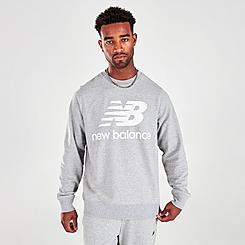 Men's New Balance Essentials Stacked Logo Crewneck Sweatshirt
