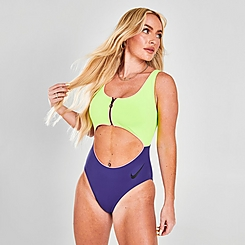 Women's Nike Swim Cutout One Piece Swimsuit