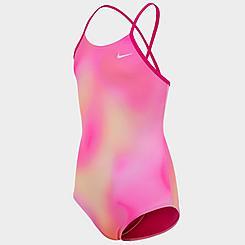 Girls' Nike Spectrum Crossback One-Piece Swimsuit