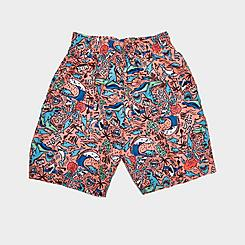 """Boys' Little Kids' Nike Shark Party 6"""" Volley Shorts"""