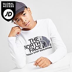 Boys' The North Face Easy Camo Logo Long-Sleeve T-Shirt