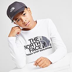 Boys' The North Face Easy Camo Logo Long-Sleeve T-Shirt