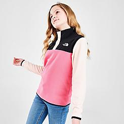 Girls' The North Face Glacier 1/4 Snap Fleece Pullover