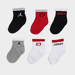 Infant Jordan Ankle Gripper Socks (6-Pack)