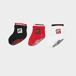 Girls' Infant Nike 3-Pack Color Blocked Ankle Socks