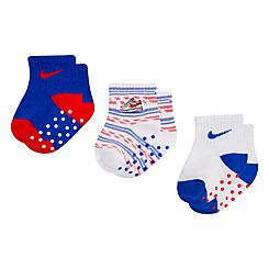 Girls' Infant Nike 3-Pack Gripper Ankle Socks