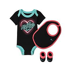 Girls' Infant Nike Neon Heart 3-Piece Box Set