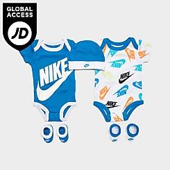 Infant Nike Futura Allover Print 5-Piece Bodysuit, Beanie Hat and Socks Set