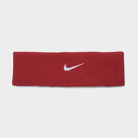 Nike Dri-FIT Headband 2.0 in Red/Red Blended fabric for breathability and a soft feel Elastic for a stay put fit Dri-FIT technology wicks away moisture One size fits most Nike Swoosh logo embroidered at front The Nike Dri-FIT Headband 2.0 is imported. Keep sweat from ruining your workout or your day with the Nike Dri-FIT Headband 2.0. Featuring sweat-wicking Dri-FIT fabric, this sweatband keeps pesky moisture from dripping into your eyes so you can focus on the task at hand. Gender: male. Age Group: adult. Nike Dri-FIT Headband 2.0 in Red/Red