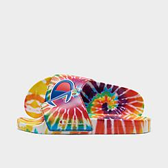 Big Kids' Champion IPO Tie-Dye Slide Sandals