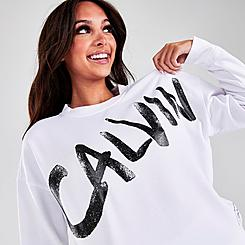 Women's Calvin Klein Performance Brush Logo Sweatshirt