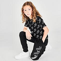 Girls' Puma Repeat Logo Jogger Pants