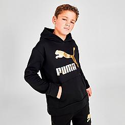 Kids' Puma Metallic Logo Pullover Hoodie