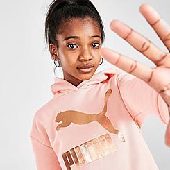 Girls' Puma Metallic Logo Pullover Hoodie