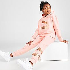 Girls' Puma Metallic Logo Jogger Pants