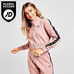 Women's Pink Soda Sport Taped Full-Zip Track Top