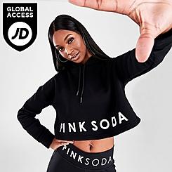 Women's Pink Soda Sport Crop Hoodie