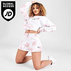 Women's Pink Soda Sport Tie-Dye Shorts