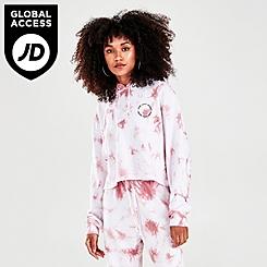 Women's Pink Soda Sport Tie-Dye Pullover Hoodie